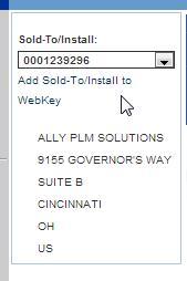 add soldto install to webkey