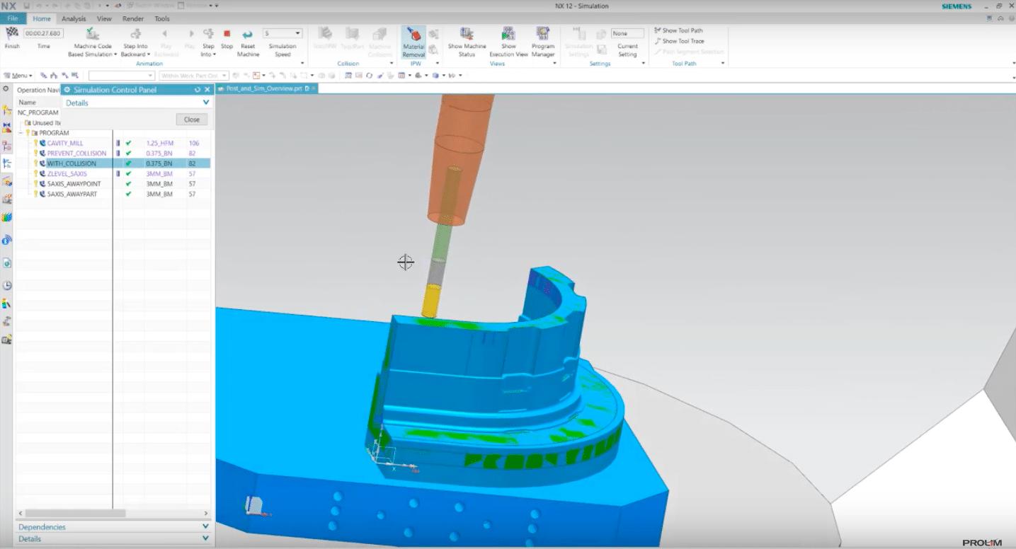 NX CAM Machine Simulation - PROLIM
