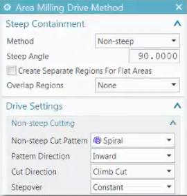 Spiral Cut Pattern Option NX CAM - PROLIM