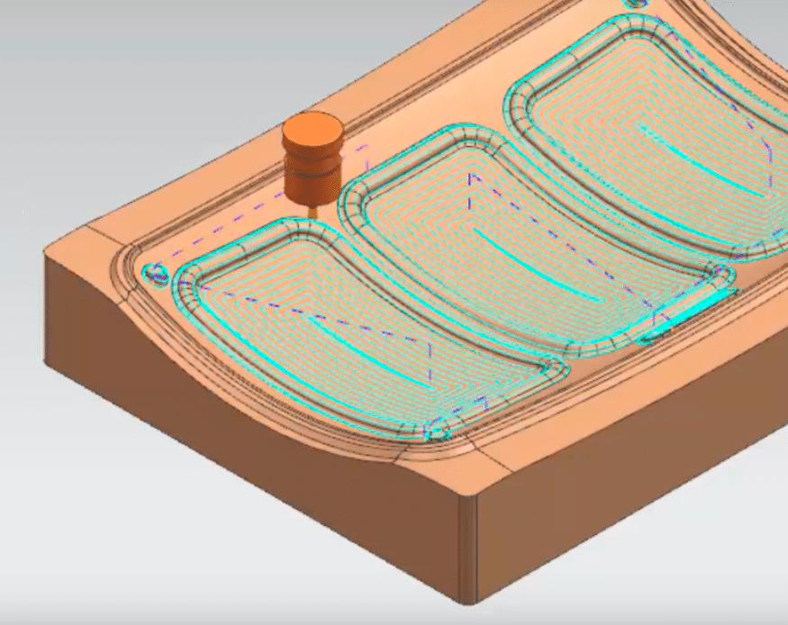 Spiral Cut Pattern NX CAM - PROLIM