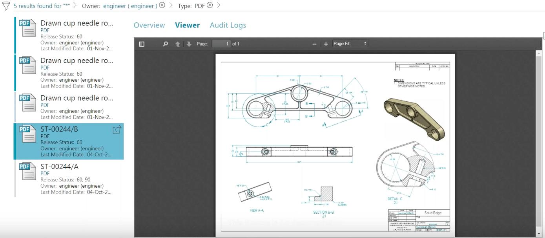 Active Workspace Document Viewer - PROLIM