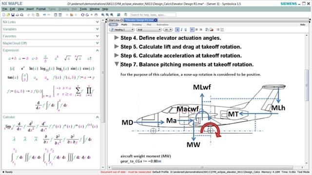 NX Maple supports algebraic math