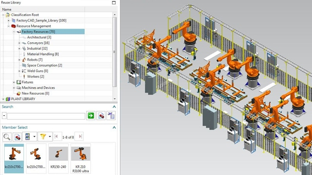 Screenshot of Factory and Line Design