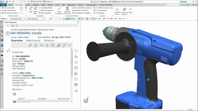 Screenshot of Multi-CAD mechanical design
