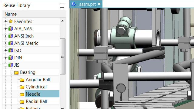 Screenshot of NX Reuse Library