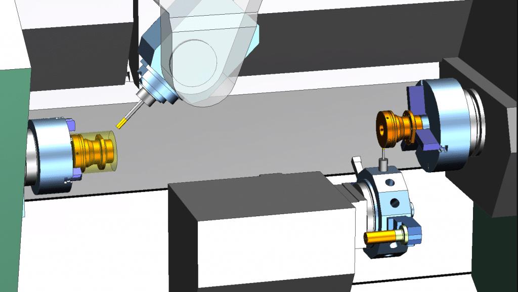 NX CAM machine simulation