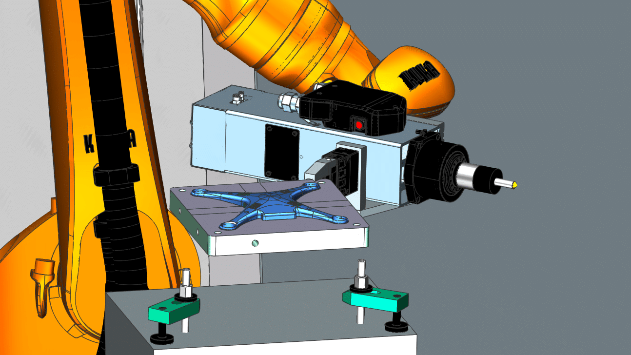 part manufacturing operation by using robots program