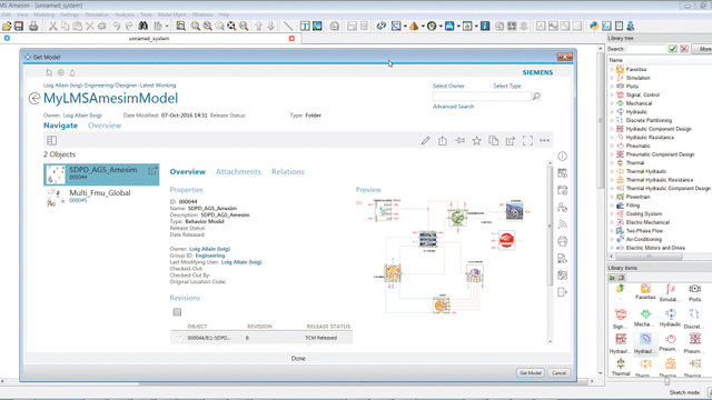 Screenshot of System Simulation Management