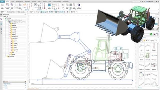 2D Machine Drawing