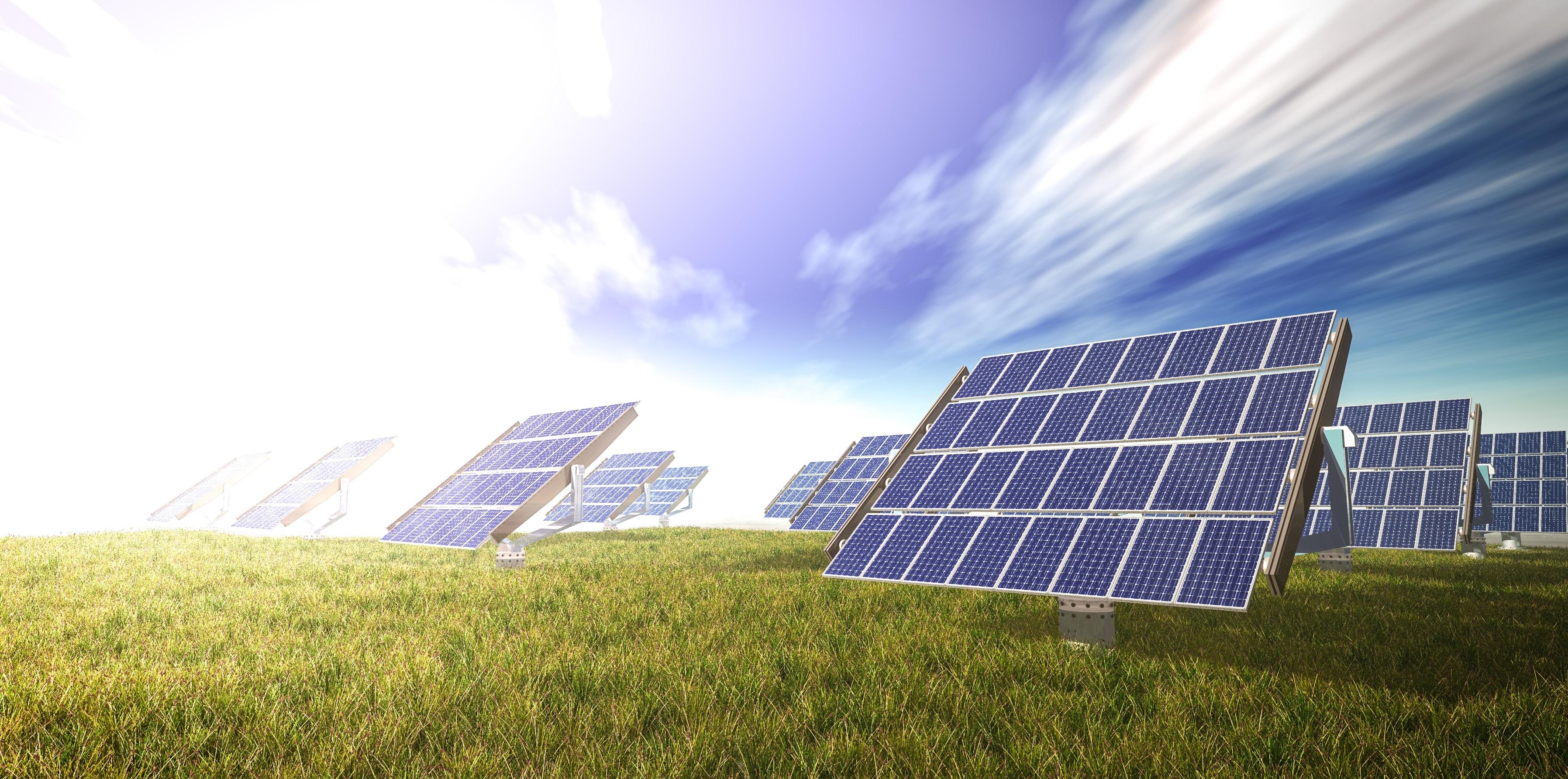 solar cells farm