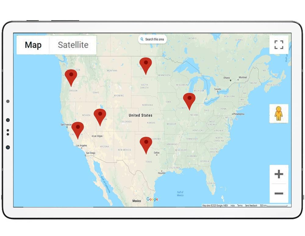 Solar Farm Map Locations: