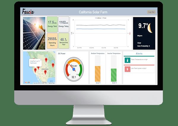 Dashboard Remote Monitoring of Solar Farm