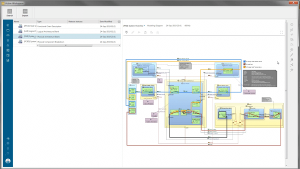 Teamcenter-view-of-a-System-Modeling-Workbench