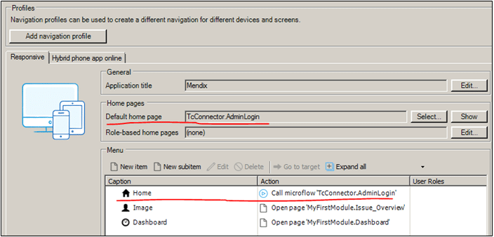 Mendix Teamcenter Connector AdminLogin Microflow Modul