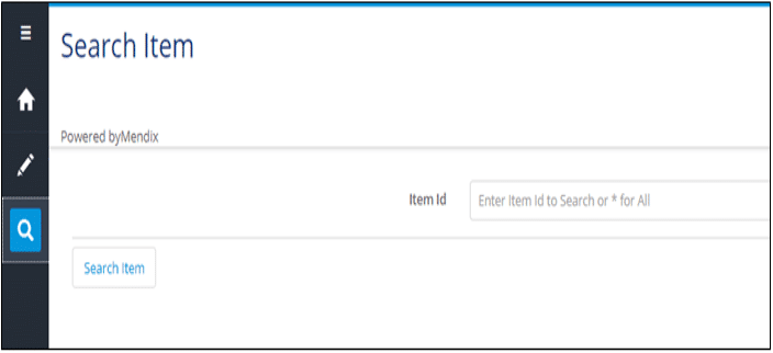 List for Mendix Search Criteria input queries from the UI
