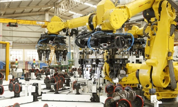 A multi-station crankshaft assembly line designed and commissioned by PARI