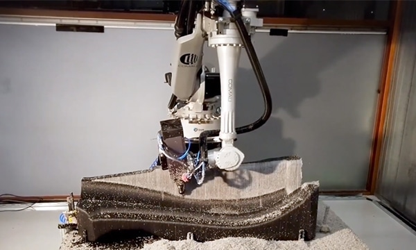 Hybrid additive manufacturing with robotics