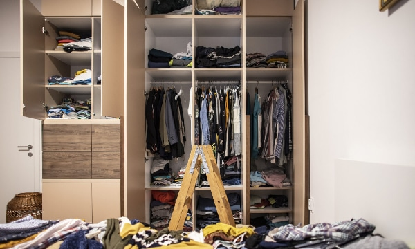 Clothes In cupboard