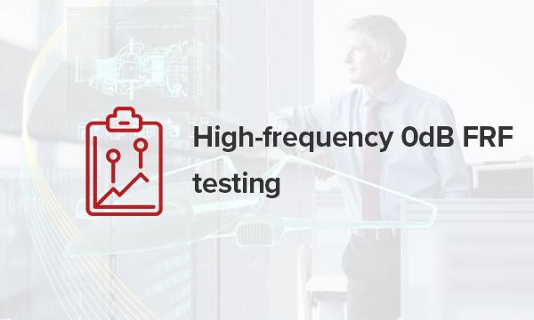 high frequency 0db frf testing